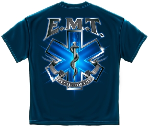 EMT On Call for Life T Shirt