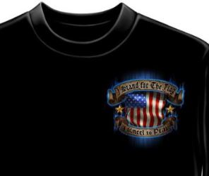 American Flag T Shirt front view