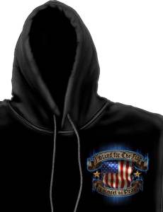 American Flag Hoodie front view